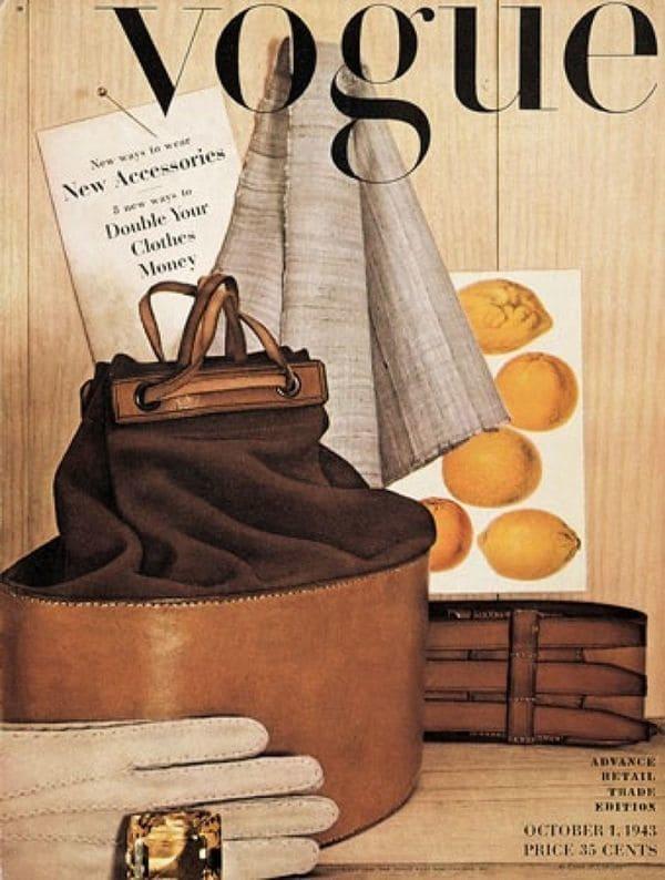 Primera portada de Vogue del fotografo Irving Penn