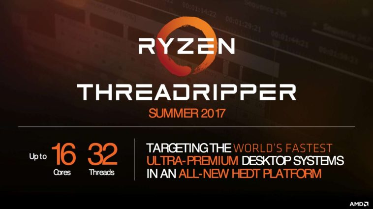 AMD confirmó a los procesadores Ryzen 9 como Threadripper