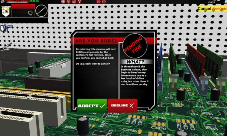 Computer Repair Simulator: Simulador de tareas de reparación de ordenadores