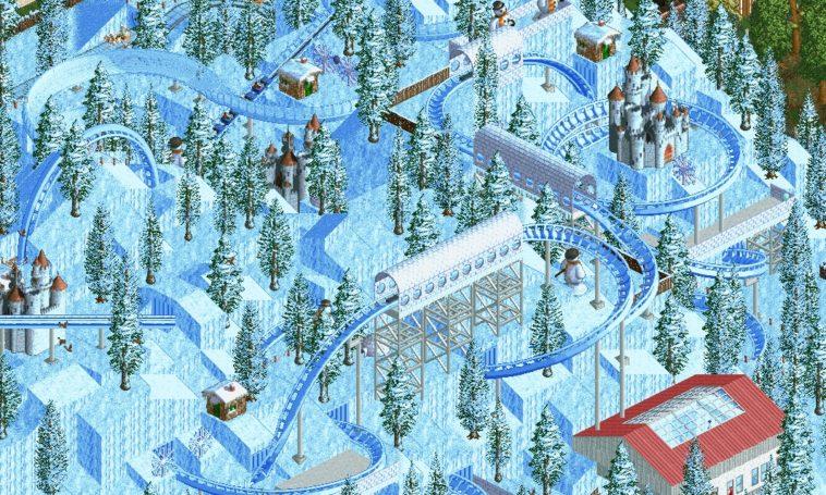 Conoce al parque más espectacular hecho en Rollercoaster Tycoon 2