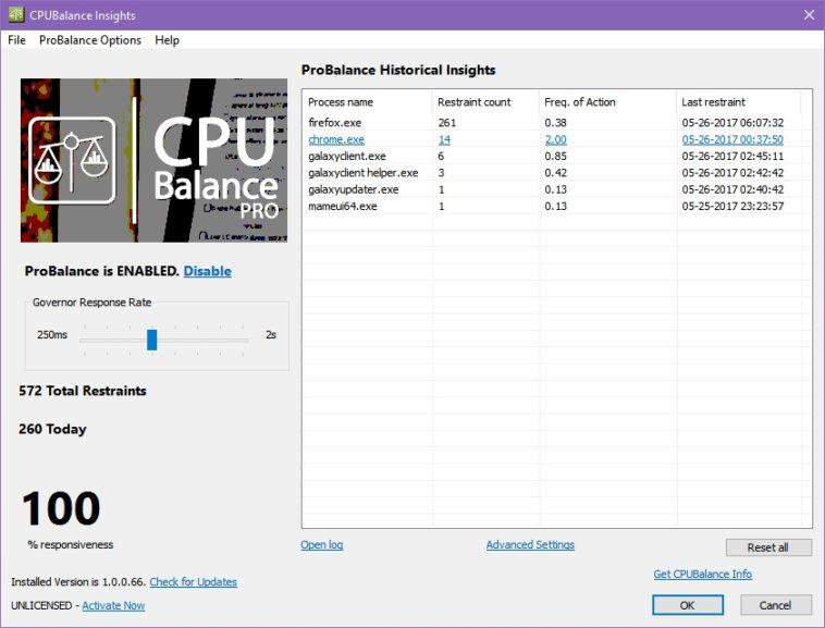 CPUBalance: Administra procesos y recursos del CPU