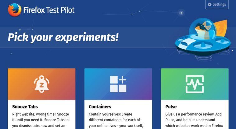 Firefox Test Pilot: Ayuda a Mozilla a mejorar su navegador