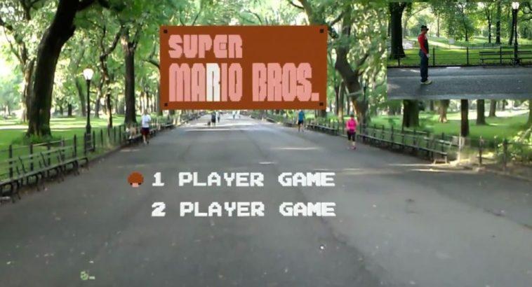En Super Mario Bros. para HoloLens, ¡tú eres Super Mario! (realidad mixta)