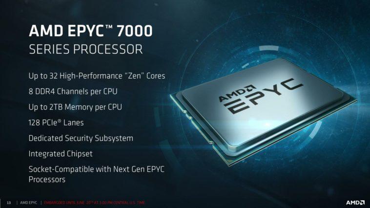 EPYC: El arma de AMD para atacar al mercado de servidores