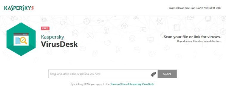 Kaspersky VirusDesk: Nueva herramienta online para buscar malware