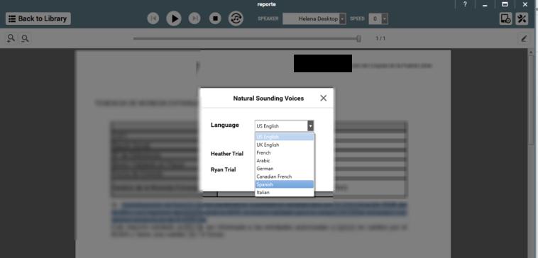 NaturalReader: Lector de audio para archivos PDF