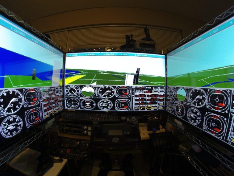Un simulador de vuelo «realista» de 1989