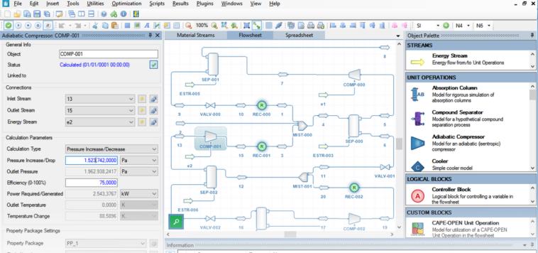 DWSIM: Simulador de reacciones químicas