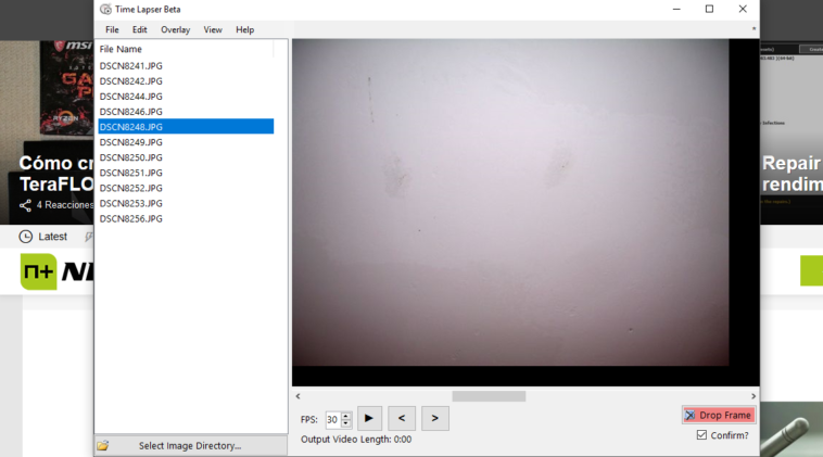 Programa para crear vídeo Time Lapse