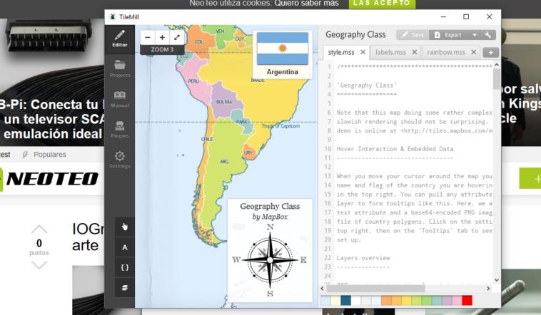 TileMill: Programa para diseñar mapas en estudio de cartografía