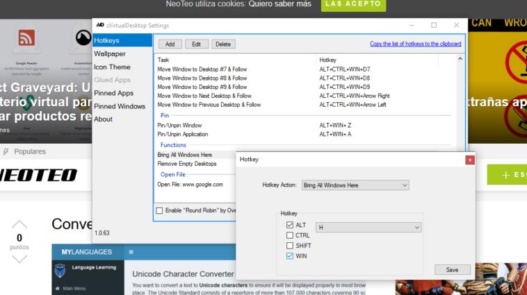 Cómo mover todos los programas de los escritorios virtuales al escritorio de Windows