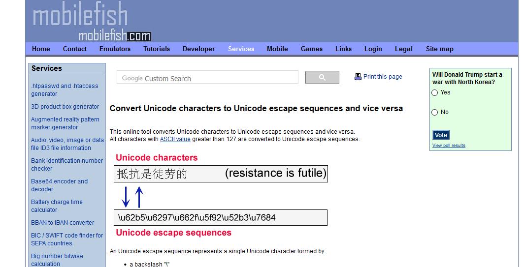 //www.mobilefish.com/services/unicode_escape_sequence_converter/unicode_escape_sequence_converter.php