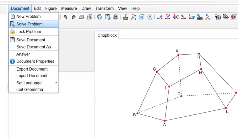 Geometria: Visualizar y resolver problemas geométricos sólidos