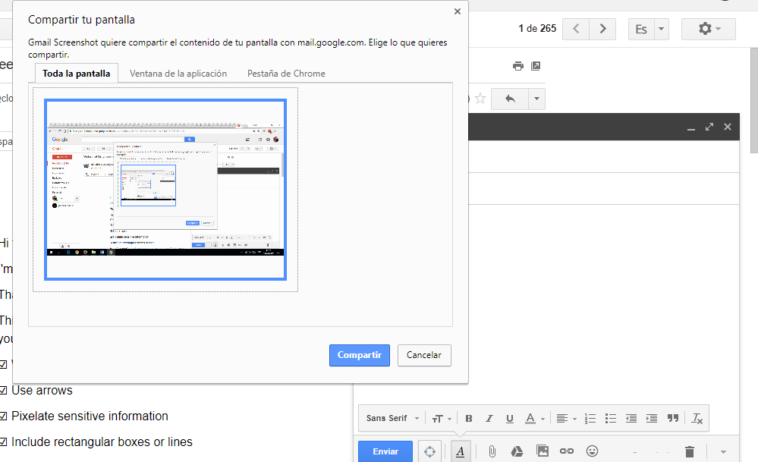 Gmail Screenshot: Captura pantalla desde tu Gmail