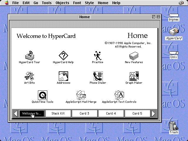 HyperCard: Qué son las HyperCards y dónde puedes verlas en funcionamiento
