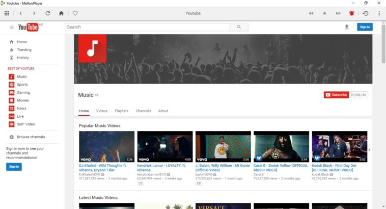 MellowPlayer: «Reproductor» multiplataforma para YouTube, Spotify y Soundcloud, entre otros