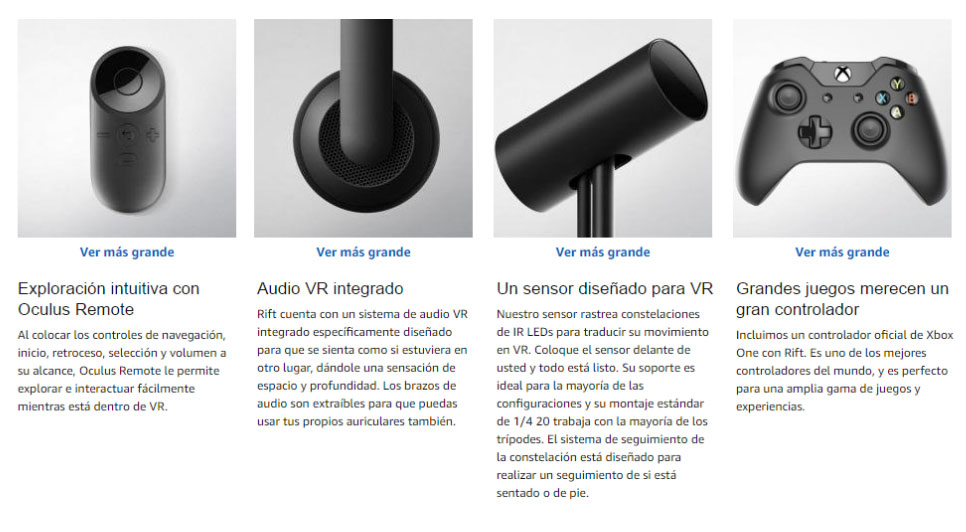 Productos de Realidad Virtual Oculus Rift en lima Peru