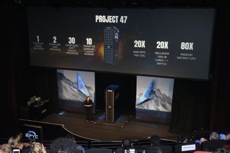 Project 47: AMD quiere jugar en el aprendizaje profundo con un rack de 1 PetaFLOP