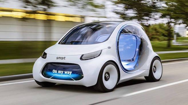 Nuevo auto Smart Fortwo Vision EQ, autónomo y eléctrico