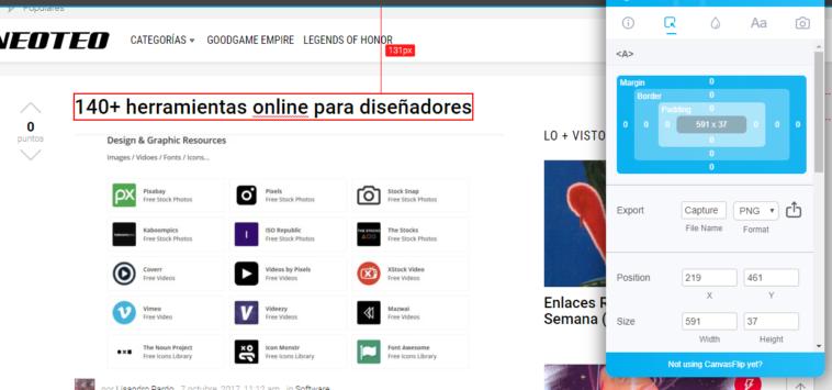 CanvasFlip: Editar páginas Web en vivo y desde Chrome