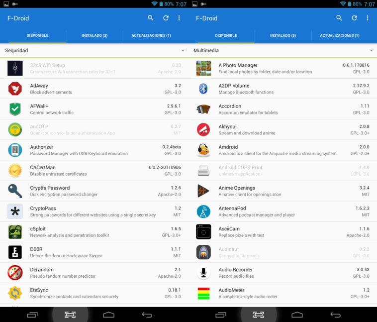 F-Droid 1.0: Nueva versión de la tienda para apps open source