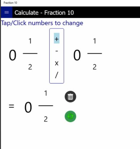 Fraction 10: Calculadora de fracciones para tus cálculos