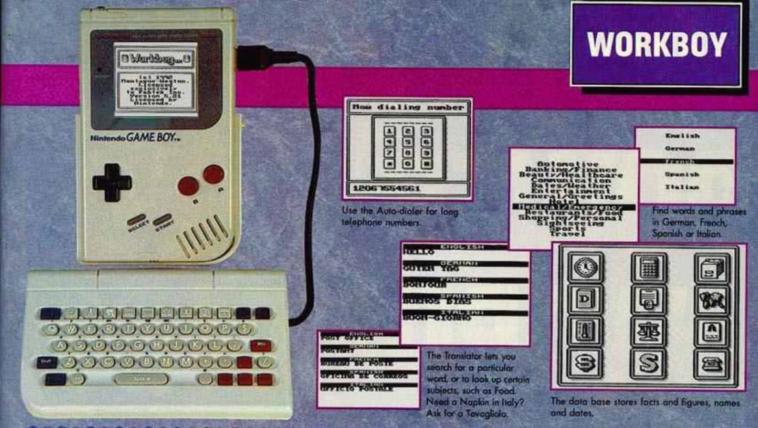 WorkBoy: El accesorio perdido de Game Boy que lo hubiese convertido en un PDA