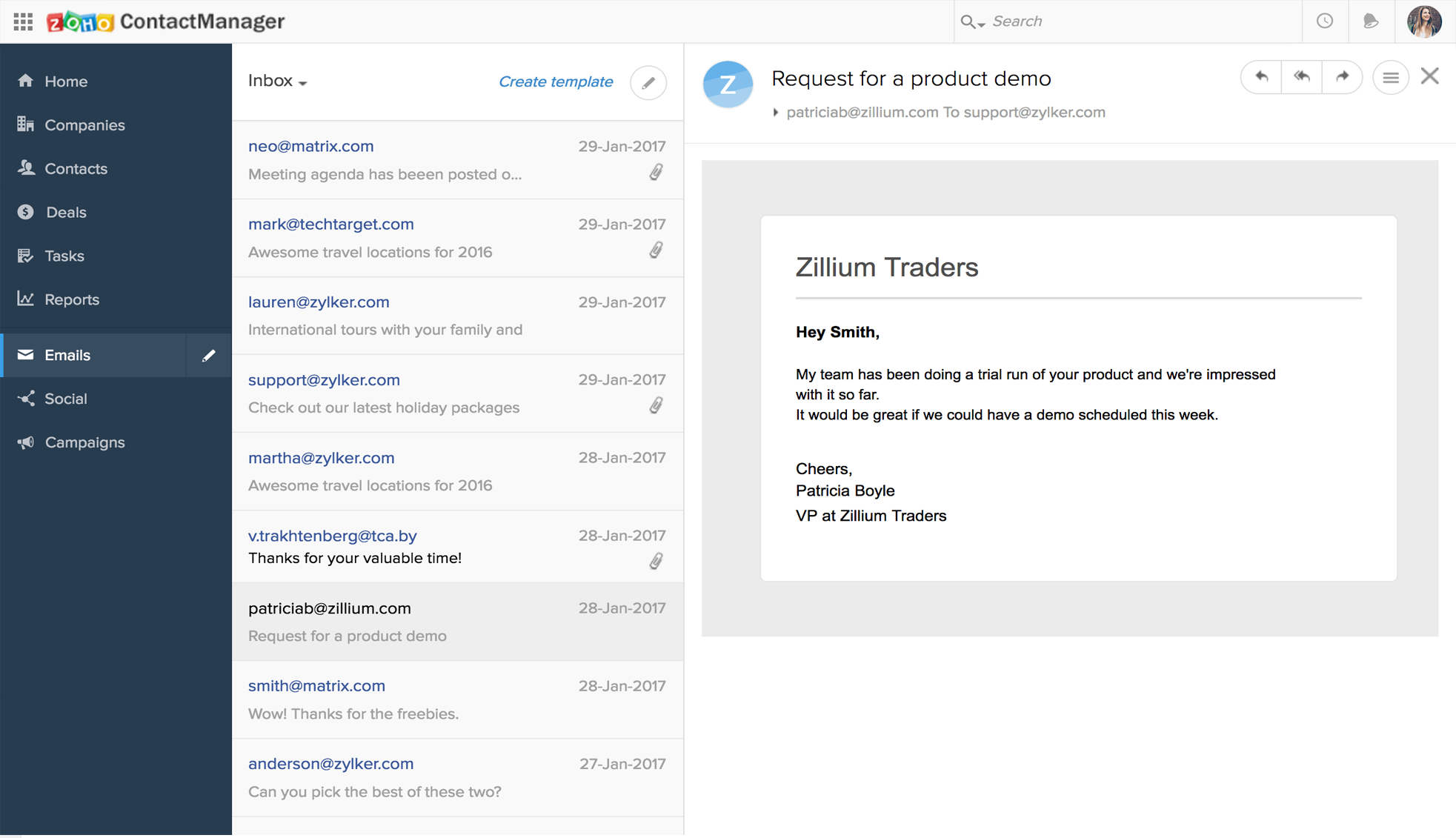 Gestión de proyectos y ventas con Zoho CRM